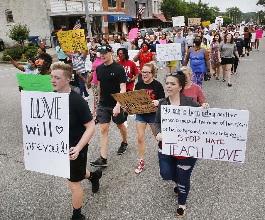 Heflin protest