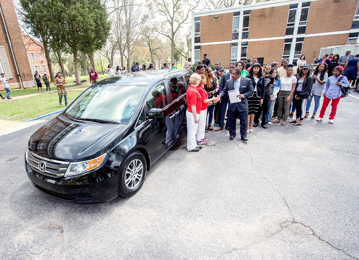 Talladega College awarded 2013 Honda Odyssey by Honda Manufacturing of Alabama
