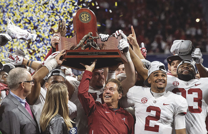Jalen Hurts leads Nick Saban's team to 2018 SEC title