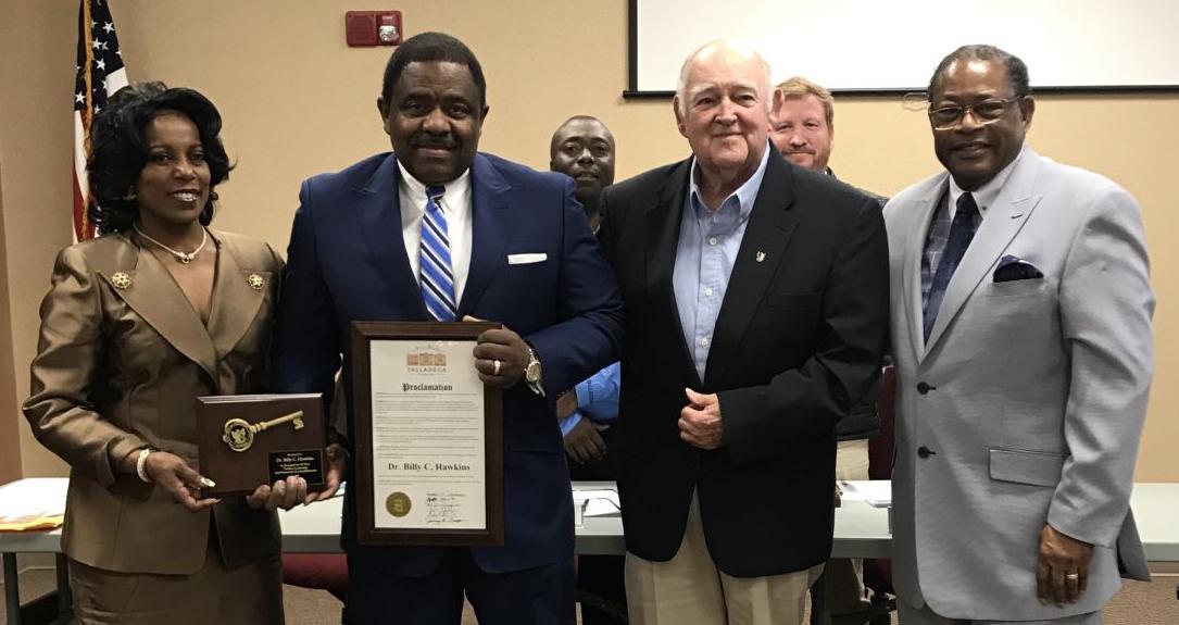 Talladega City Council honors Talladega College President Dr. Billy C. Hawkins (photos)
