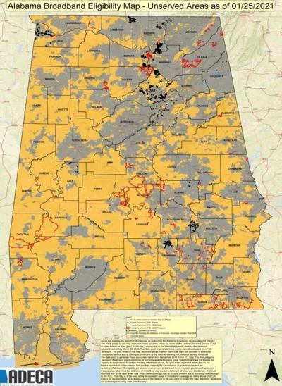 ADECA underserved broadband map