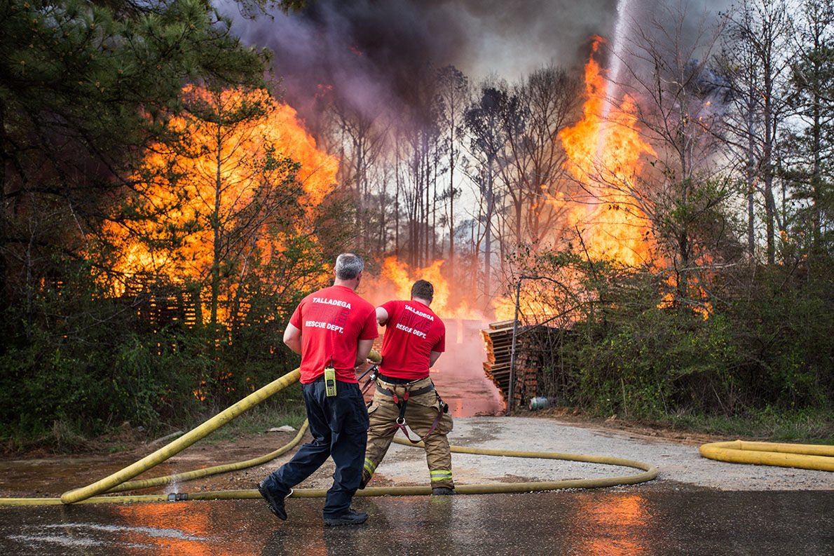 Talladega firefighters battle blaze on Ward Avenue in Brecon (with photo gallery)