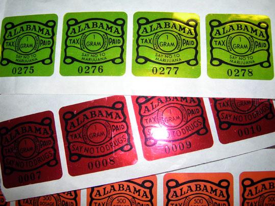 Alabama's illegal drug tax stamp