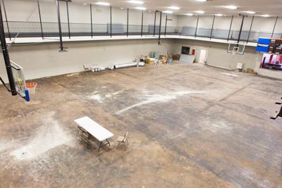 Pell City Civic Center gym floor project