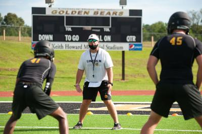 Lincoln head coach Matt Zedaker first day of practice 2020