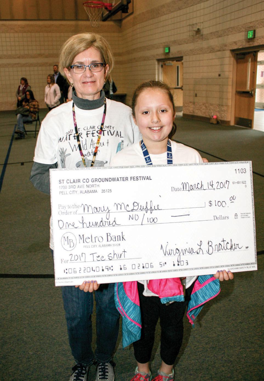 Margaret Elementary School's Mary McDuffie wins T-shirt logo contest