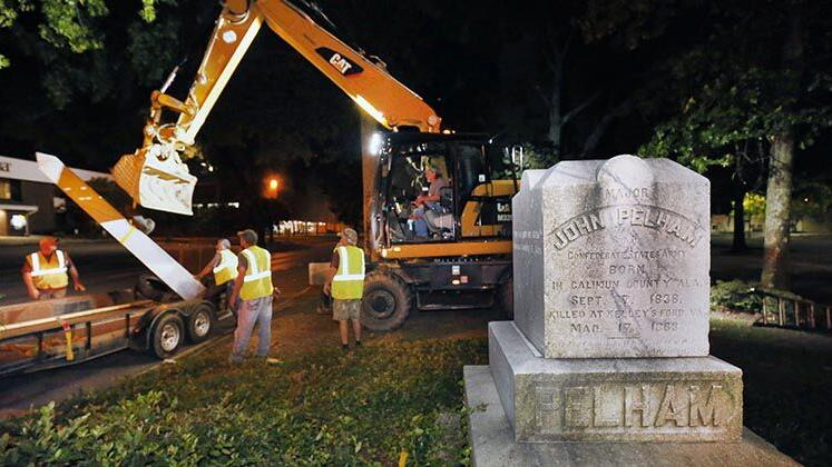 Photos: Anniston Confederate Monument Removal