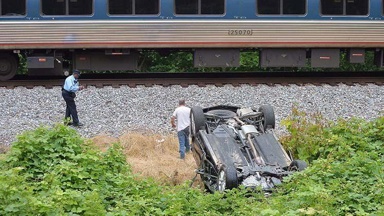 Amtrak train hits car in Cleburne County minutes after occupants escape