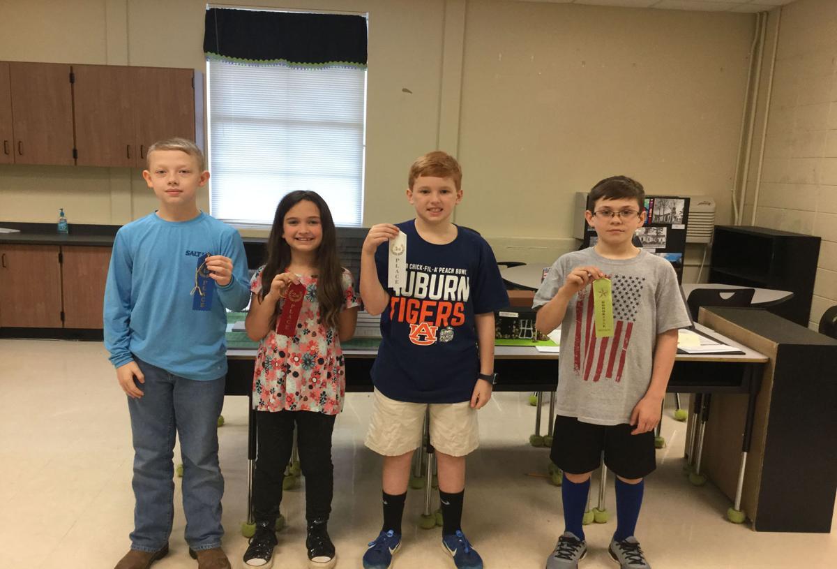 Iola Robert Elementary School History Fair winners