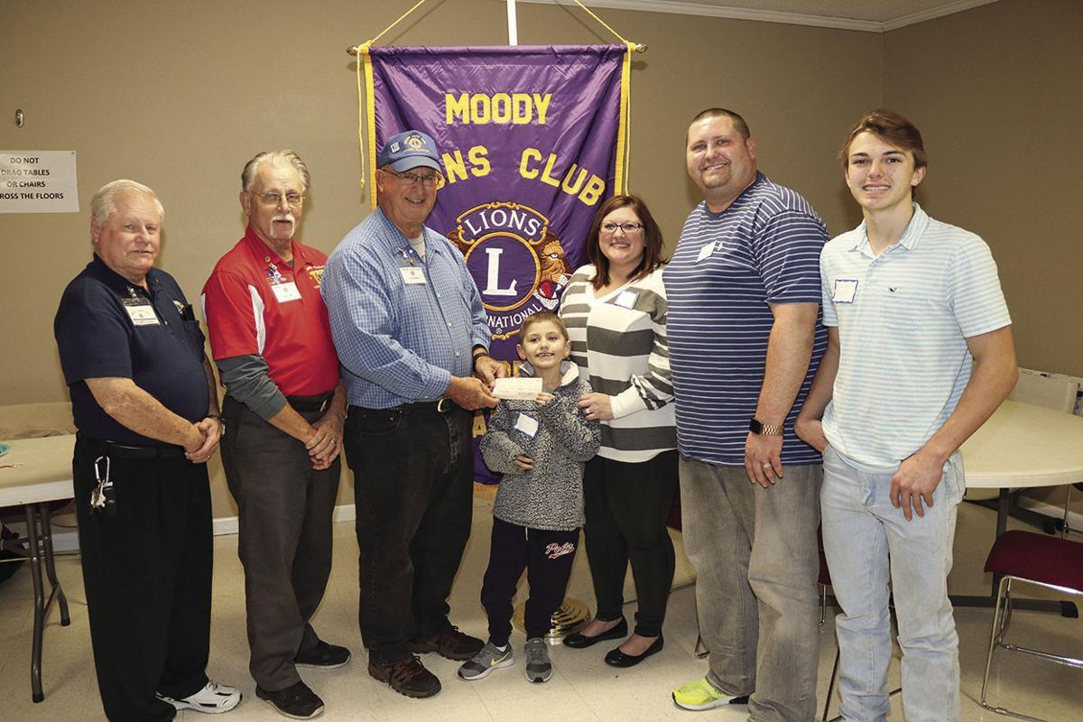 Moody Lions Club donates money