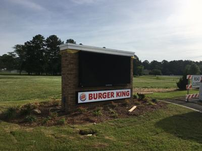 Burger King sign in Golden Springs