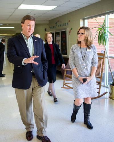 U.S. Rep. Mike Rogers tours Walker M. Kennedy Elementary School