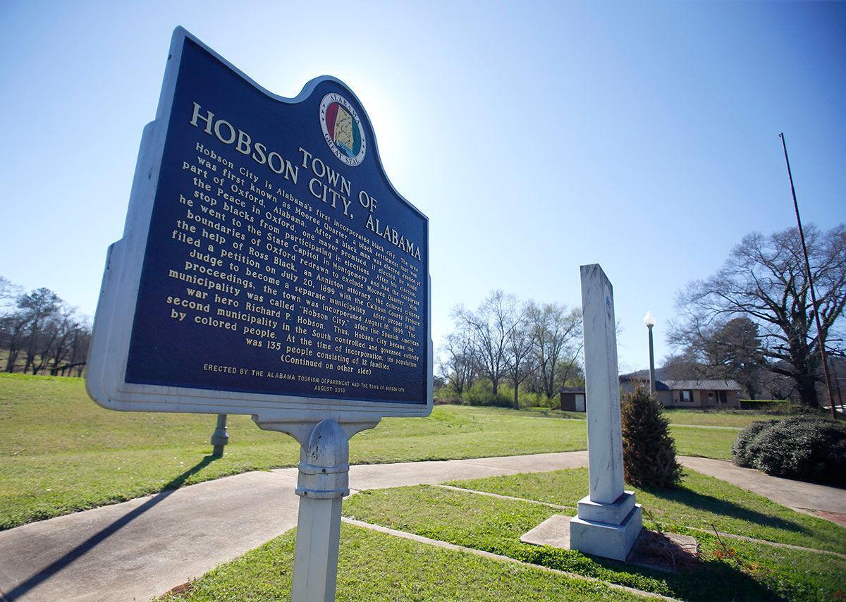 Hobson City marker