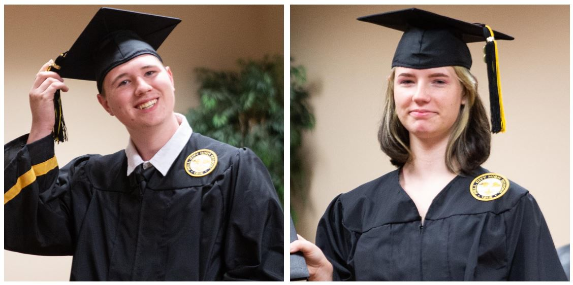 Pell City Schools holds private graduation ceremonies for 2 students leaving for basic training Monday