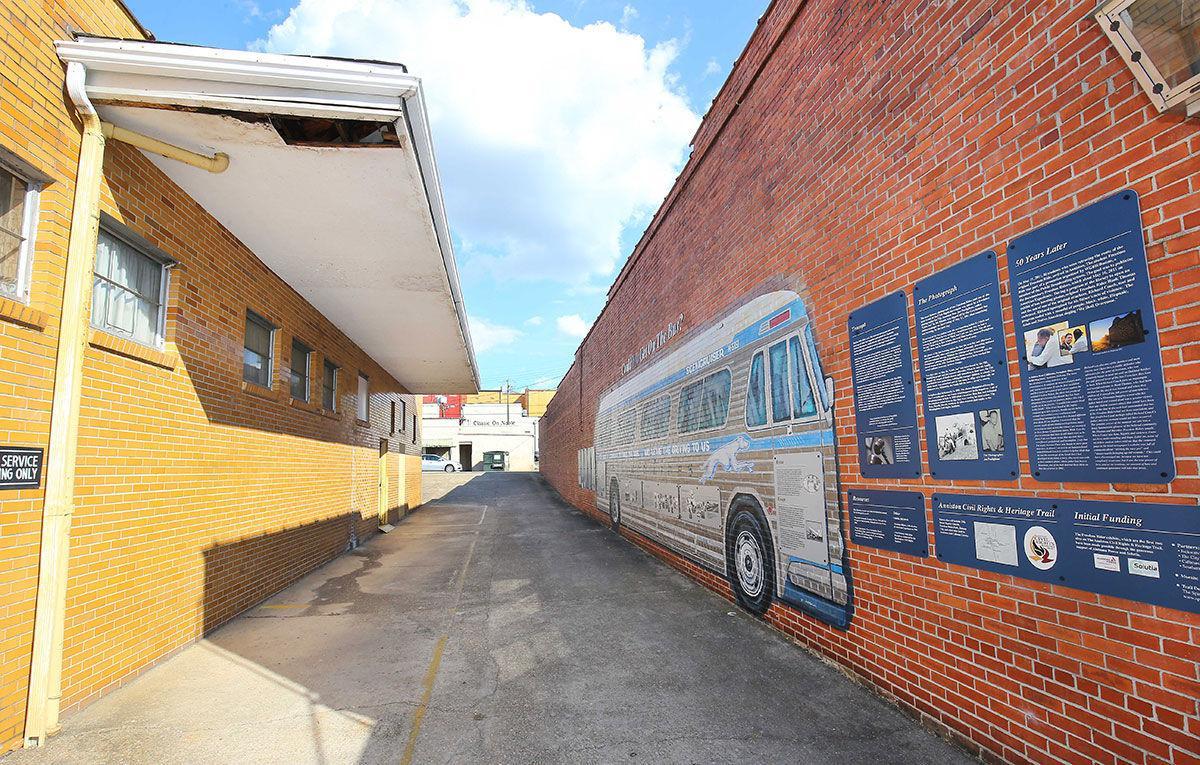 Greyhound bus station in Anniston