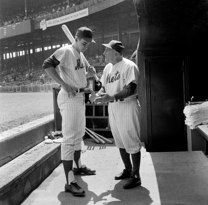 Casey Stengel as manager of the New York Mets