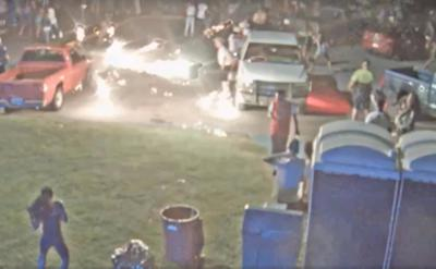 Oxford lake fireworks