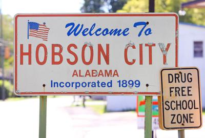 Hobson City sign
