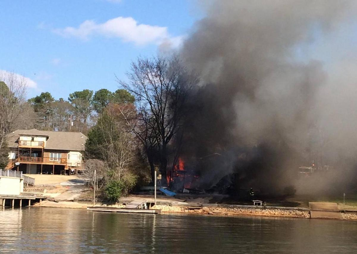 Fire destroys boathouse Sunday along Logan Martin Lake (photos) (copy)