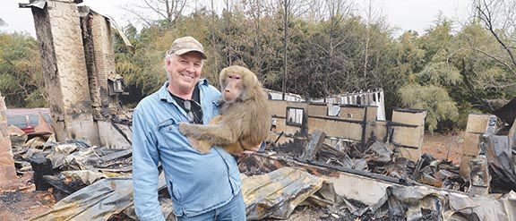 Positive attitude helps animal exhibitor cope with fire