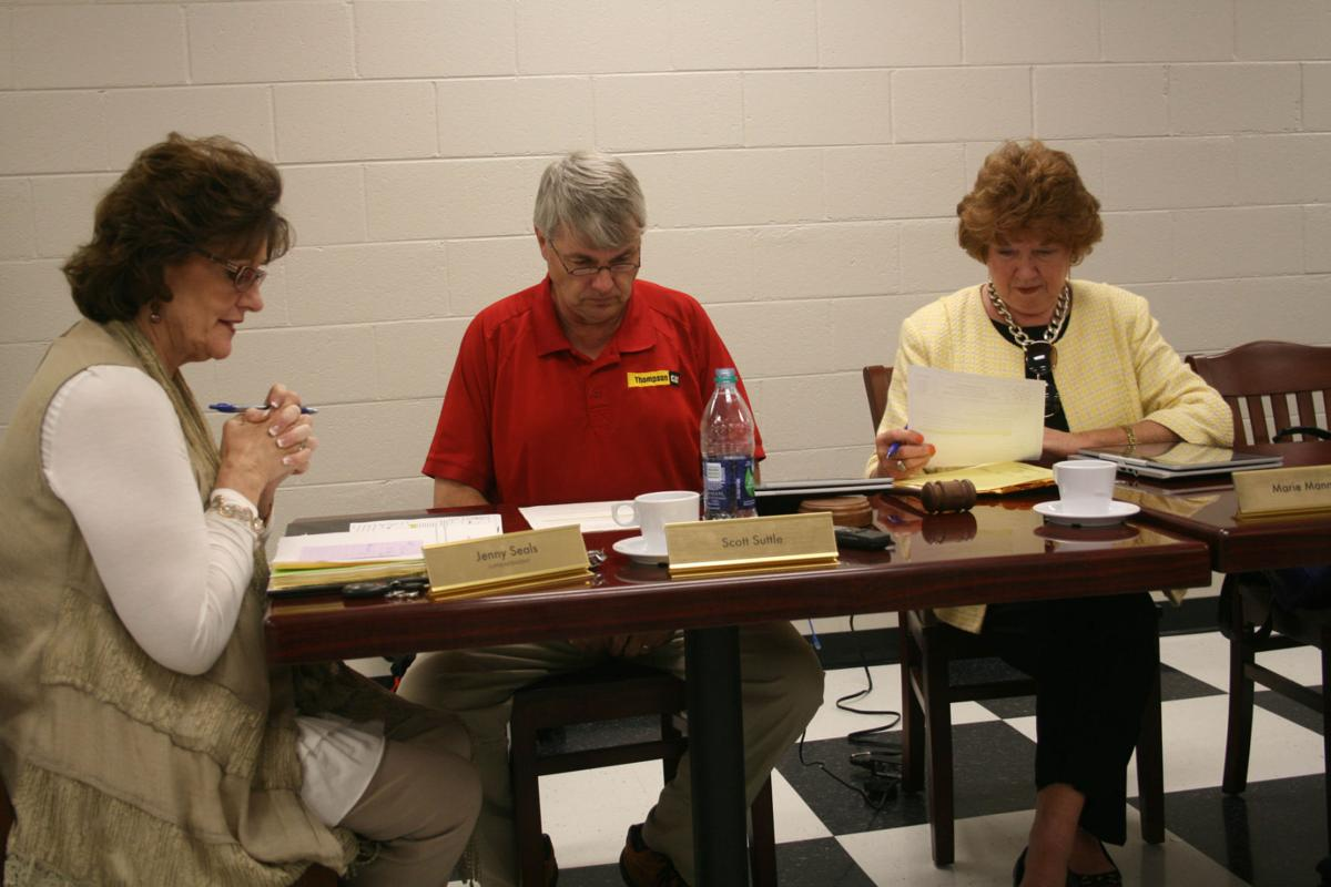 St. Clair Board of Education during meeting