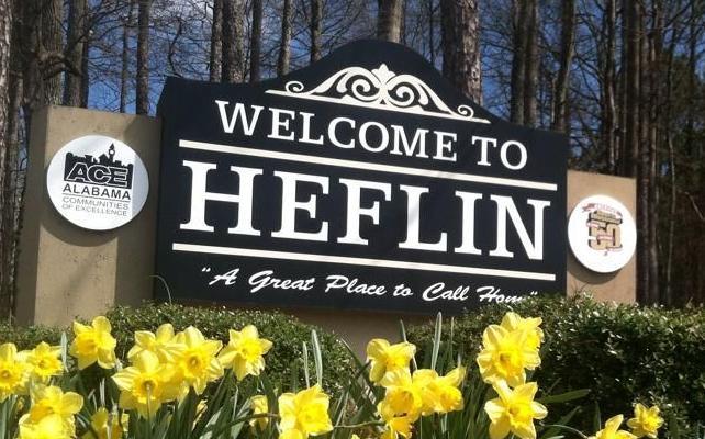 City of Heflin sign