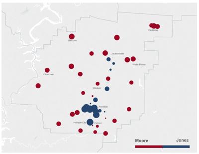 Calhoun County 2017 Senate election map