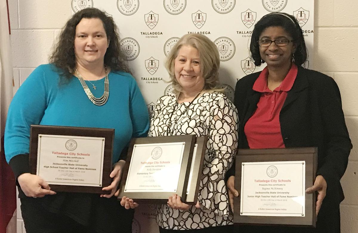 Teachers honored by Talladega City Schools