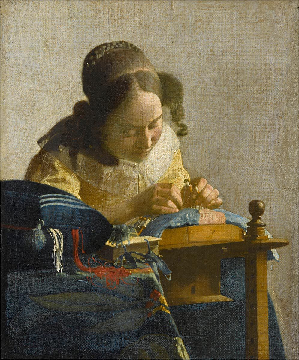 'The Lacemaker' by Johannes Vermeer