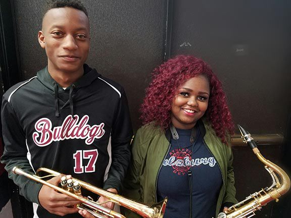 Anniston High School band