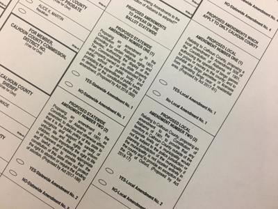 Amendments ballot