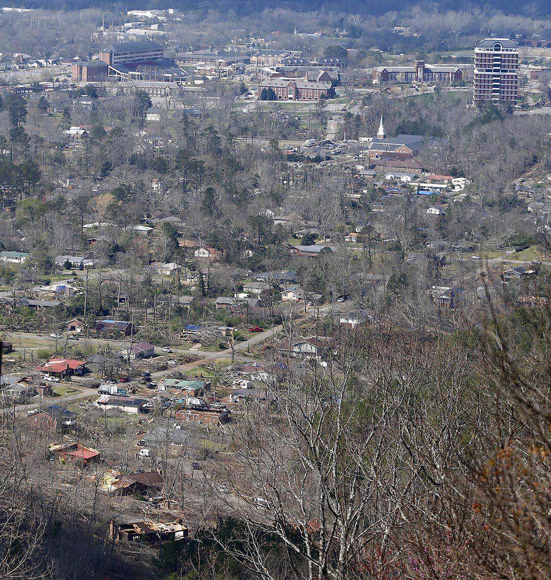 Images of jacksonville al tornado