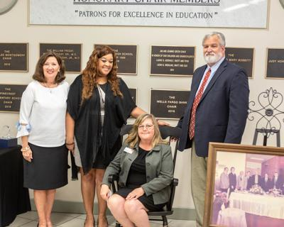 Wells Fargo receives educational chair from Sylacauga City Schools Foundation