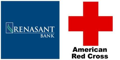 Logos for Renasant Bank, American Red Cross