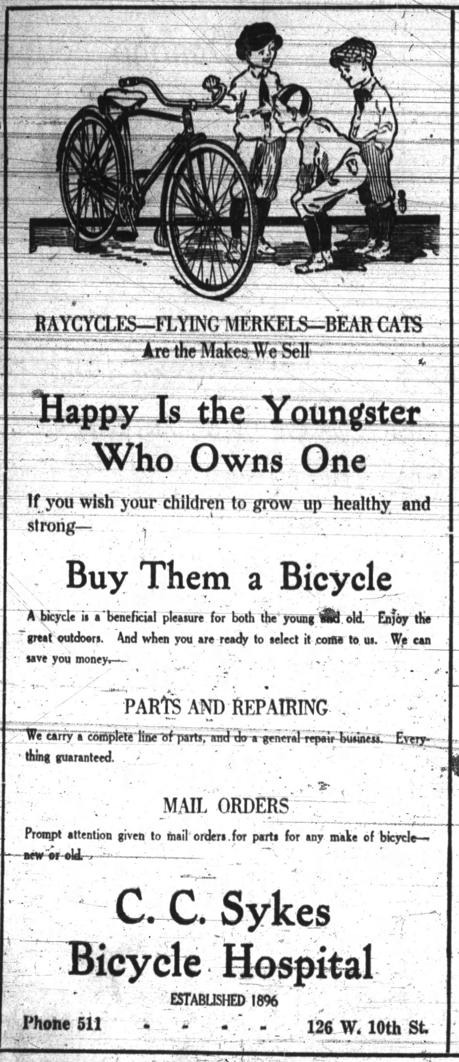 Bicycle Hospital ad