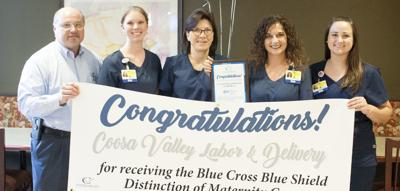 Coosa Valley Medical Center labor & delivery department honored