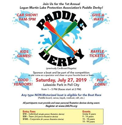 Paddle Derby and Car Show flier
