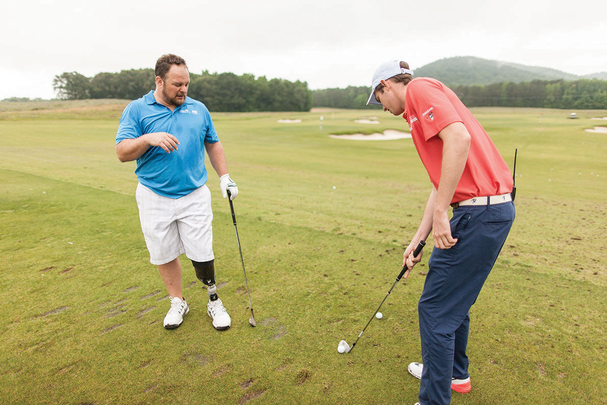 Injured veterans receive golf instruction at Farmlinks