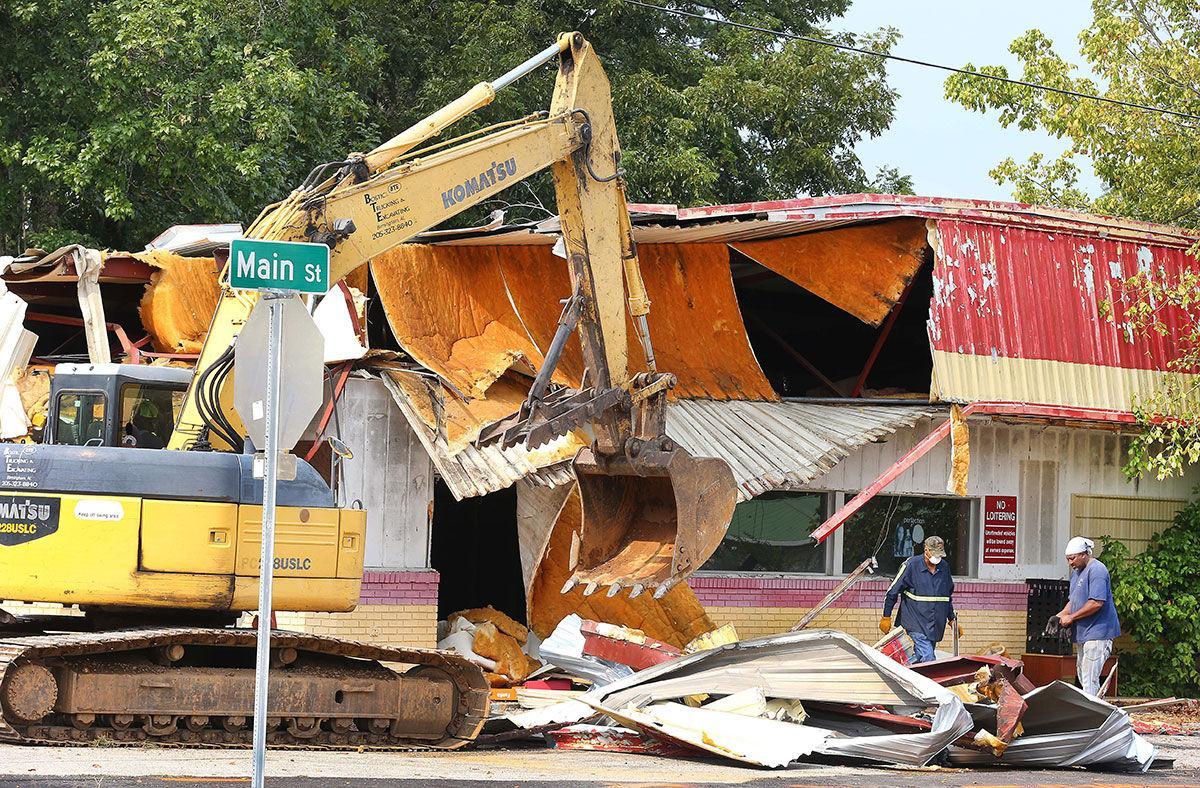 Weaver gas station demolished