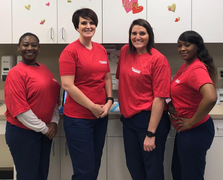 In Your Community ... MainStreet Family Urgent Care staff supports Women's Heart Health month