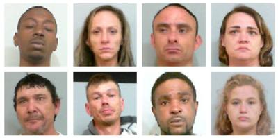 8 arrested on felony drug charges in Talladega County