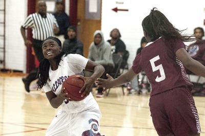 Bria Moore scores 13 points for Talladega College