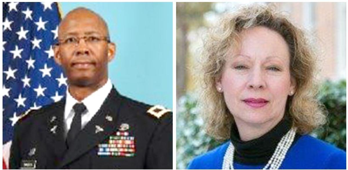 "Retired U.S. Army Reserve Col. Henry L. ""Charlie"" Sanders and Dr. F. Jane Cobia"