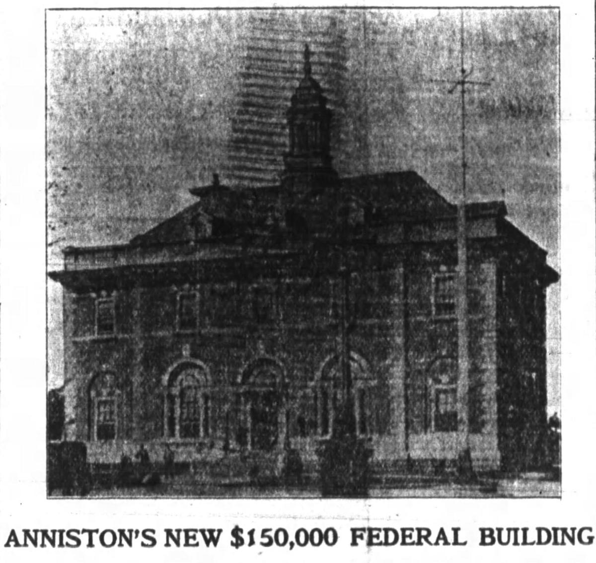 Plans for Anniston federal courthouse, 1903
