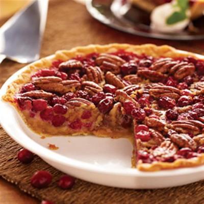 Pecan cranberry pie