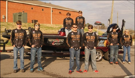 Pell City High School anglers