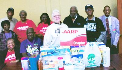 Talladega AARP chapter collects items for Alzheimer's Support Group