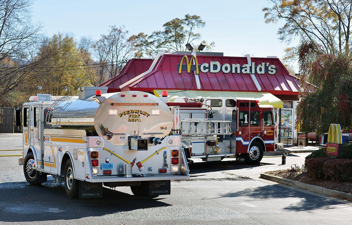 Piedmont McDonald's fire