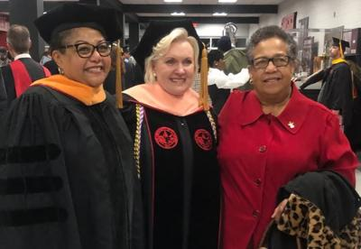 Dr. Vandalyn McGrue, Dr. Leigh Ann Keith and Fay Collins