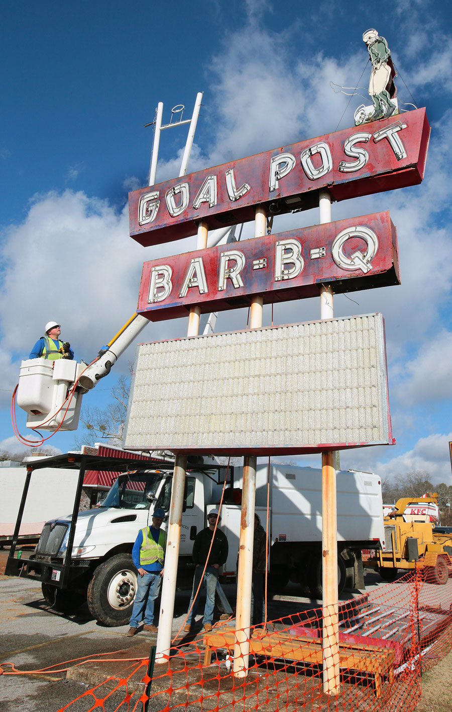 Goal Post sign 2014